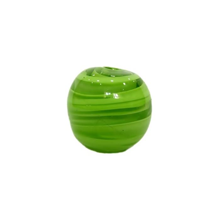 Bola de murano GG verde pistache mesclado- MU017
