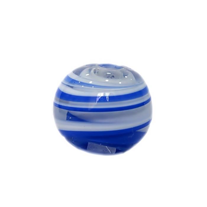 Bola de murano GG royal/ branco- MU021