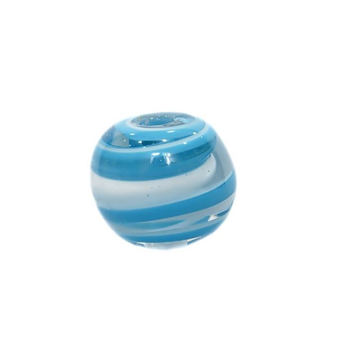 Bola de murano GG turquesa/ branco- MU030