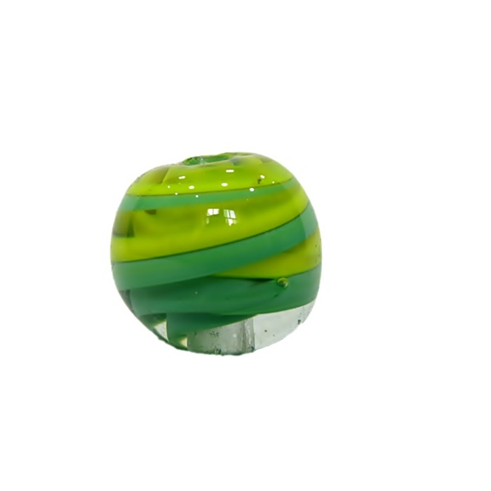 Bola de murano GG verde/ amarelo- MU032
