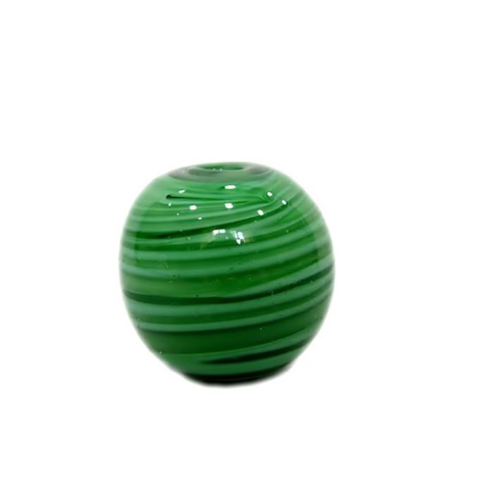 Bola de murano GG verde leitosa mesclado- MU035