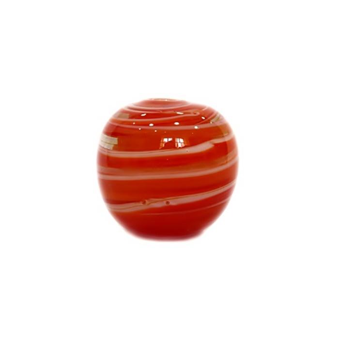Bola de murano GG vermelho/ branco- MU038