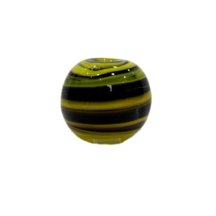 Bola de murano G amarelo/ preto- MU040