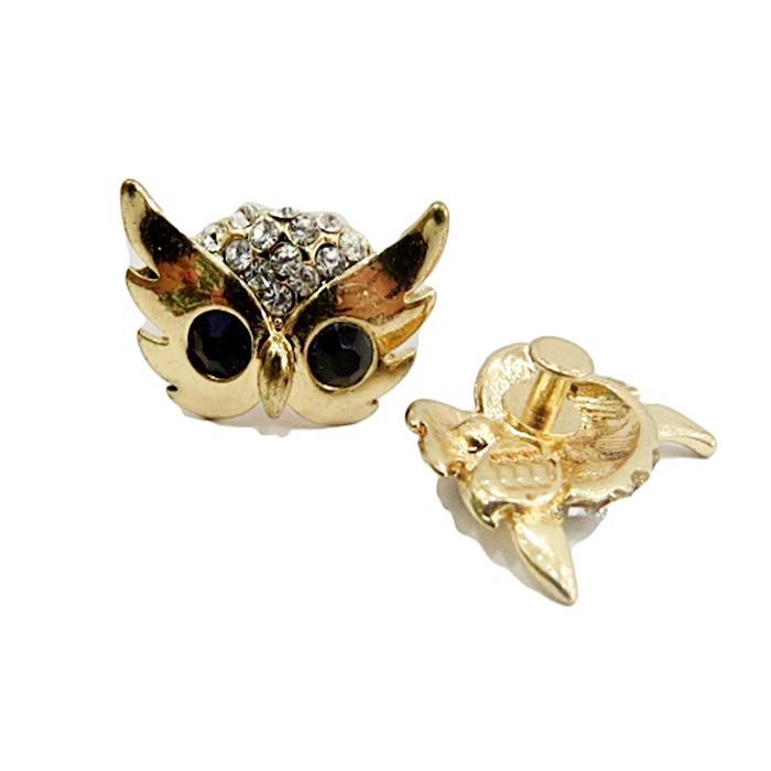 Piercing Cabeça de Coruja dourada (Par)- PID004