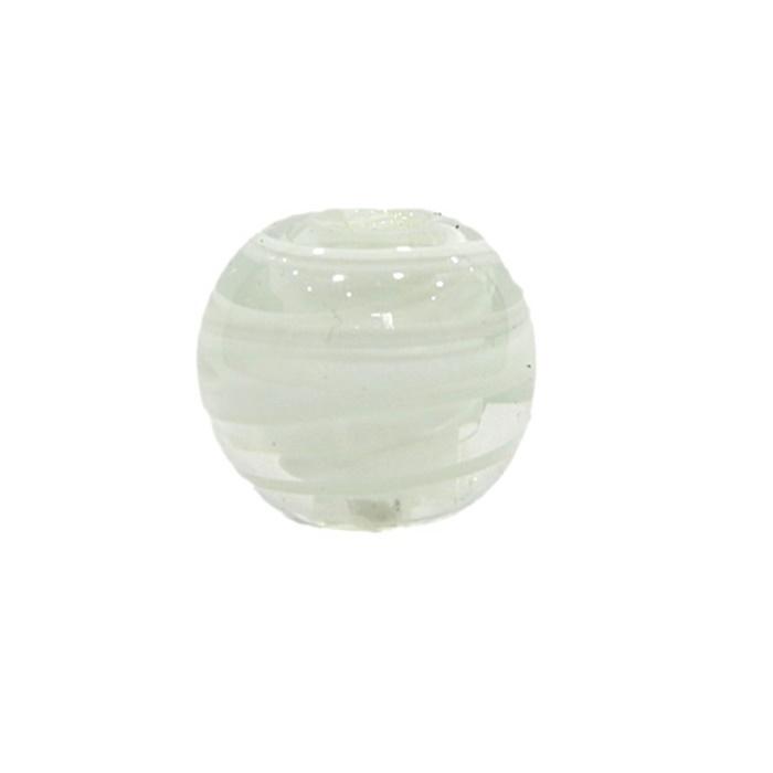 Bola de murano G branco- MU052