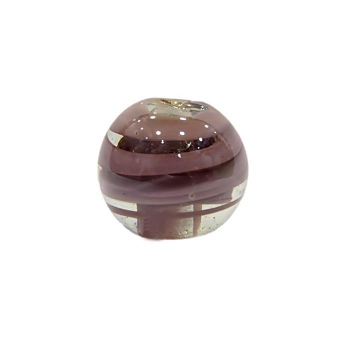 Bola de murano G  lilás irisado- MU060