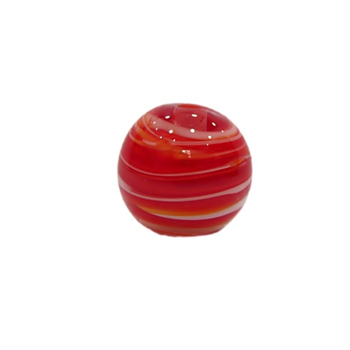 Bola de murano G vermelho/ branco- MU082