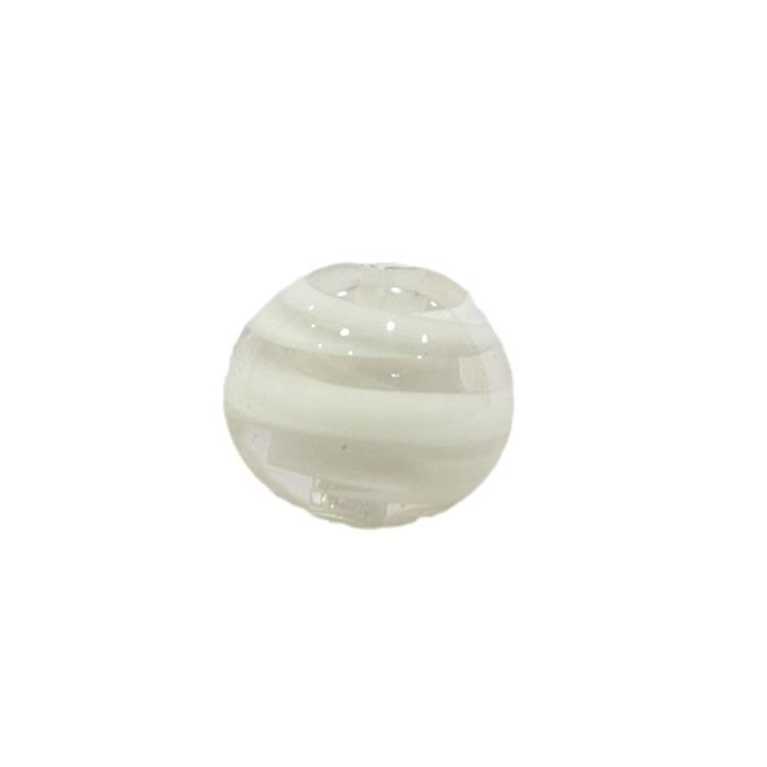 Bola de murano M branco- MU088