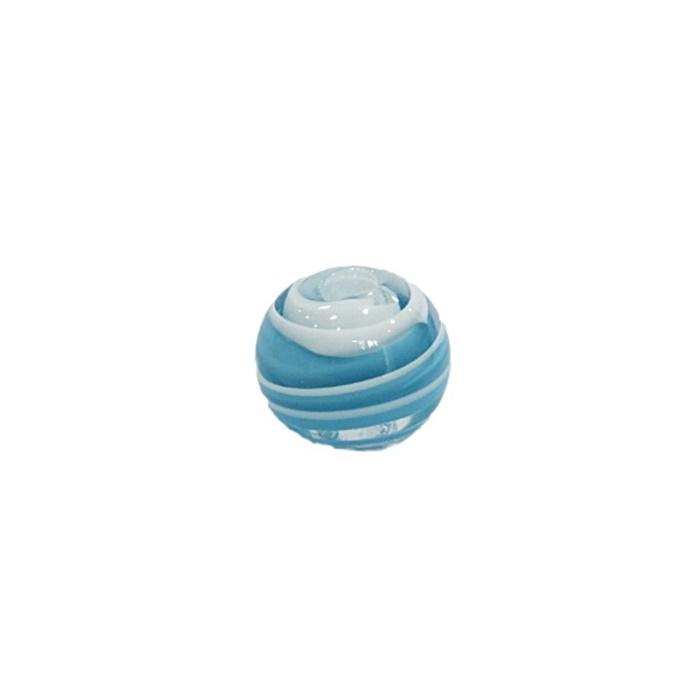 Bola de murano M turquesa/ branco- MU102