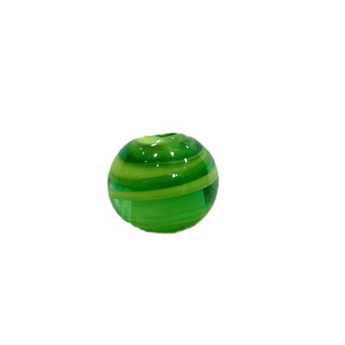 Bola de murano M verde/ amarelo- MU103