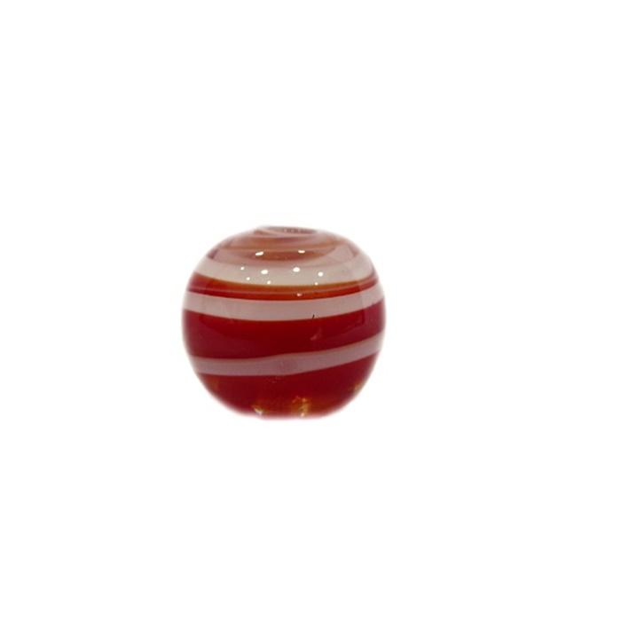 Bola de murano M vermelho/ branco- MU106