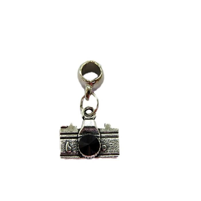 Berloque pingente níquel máquina fotográfica preto- BEN151