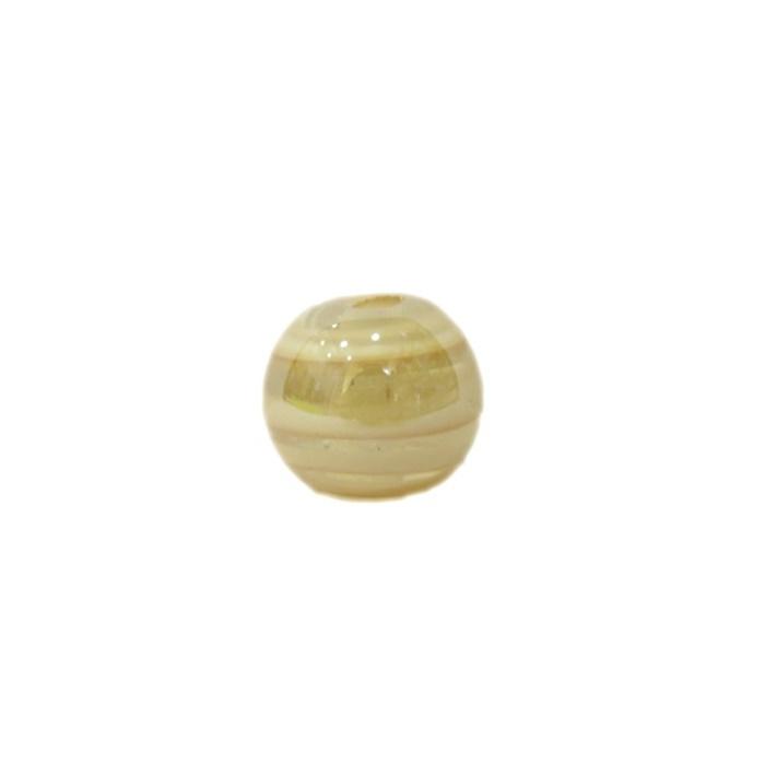 Bola de murano P branco irisado (10 unidades)- MU114