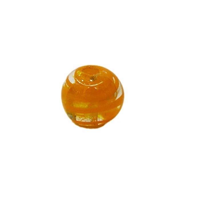 Bola de murano P laranja (10 unidades)- MU119
