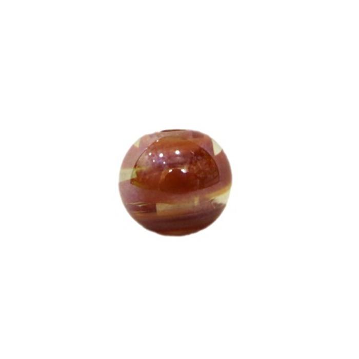 Bola de murano P marrom irisado (10 unidades)- MU122