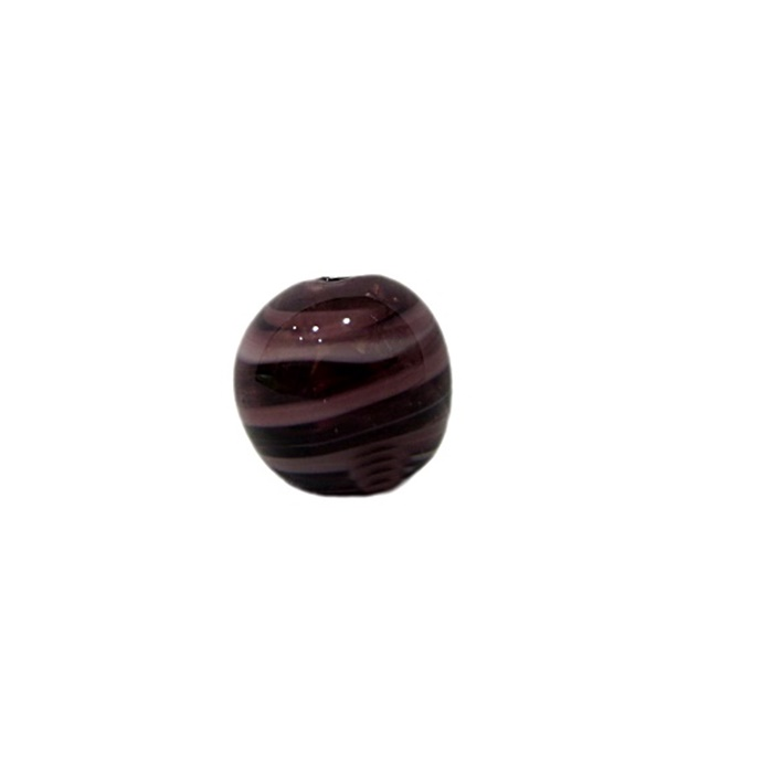 Bola de murano P roxo/ branco (10 unidades)- MU131