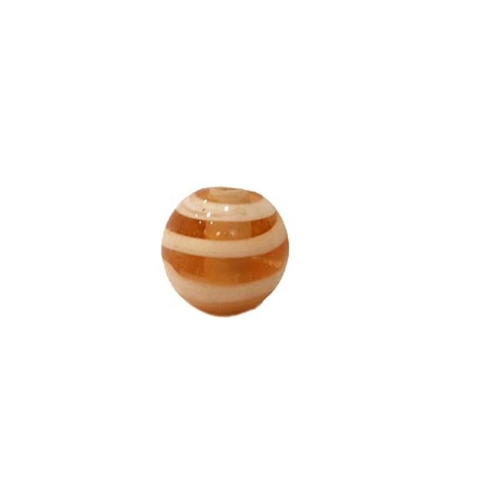 Bola de murano P salmão/ branco (10 unidades)- MU132