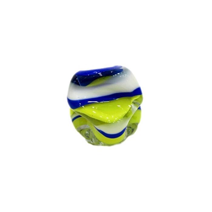 Meteoro de murano GG  amarelo/ branco/ azul- MU180