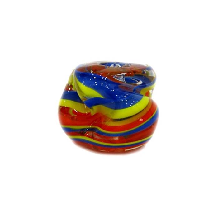 Meteoro de murano GG  azul/ amarelo/ laranja- MU182