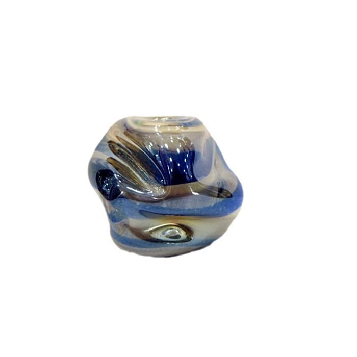 Meteoro de murano GG azulão/ branco irisado- MU185
