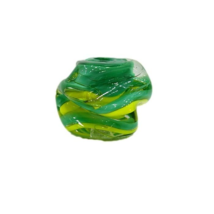 Meteoro de murano GG verde/ amarelo- MU224