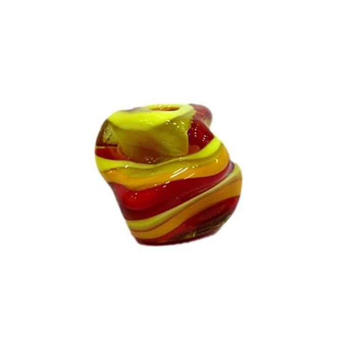 Meteoro de murano vermelho/ amarelo gema- MU230