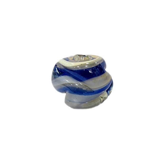 Meteoro de murano G azulão/ branco irisado- MU237