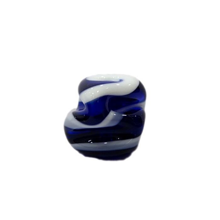 Meteoro de murano G azulão/ branco- MU238