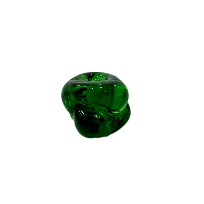 Meteoro de murano G verde escuro cristal- MU249