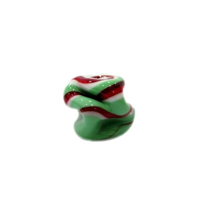 Meteoro de murano G verde/ vermelho/ branco- MU254