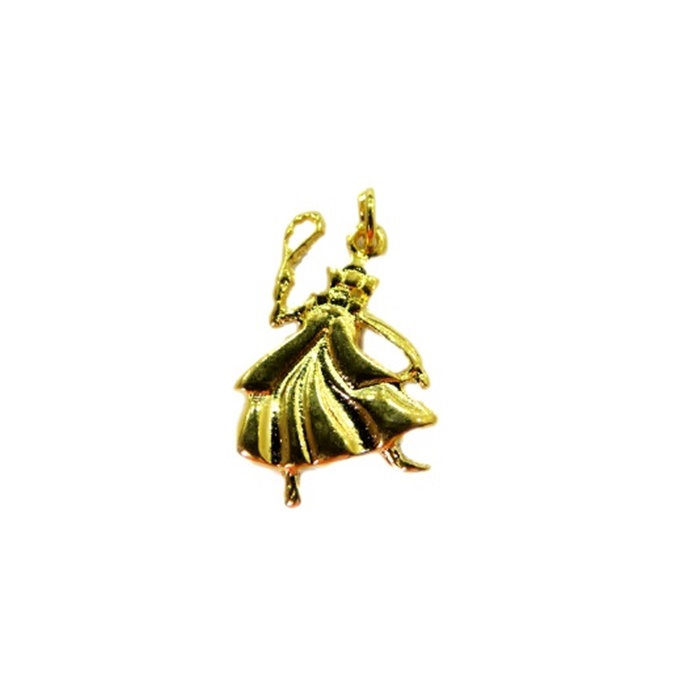 Pingente Nanã dourado (orixá)- POD001