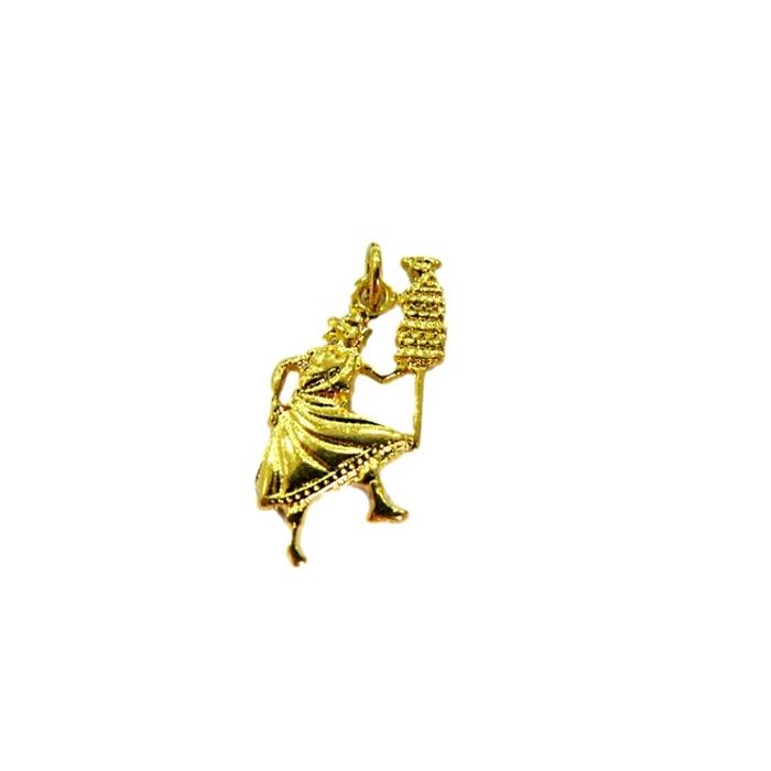 Pingente Oxala dourado (orixá)- POD003