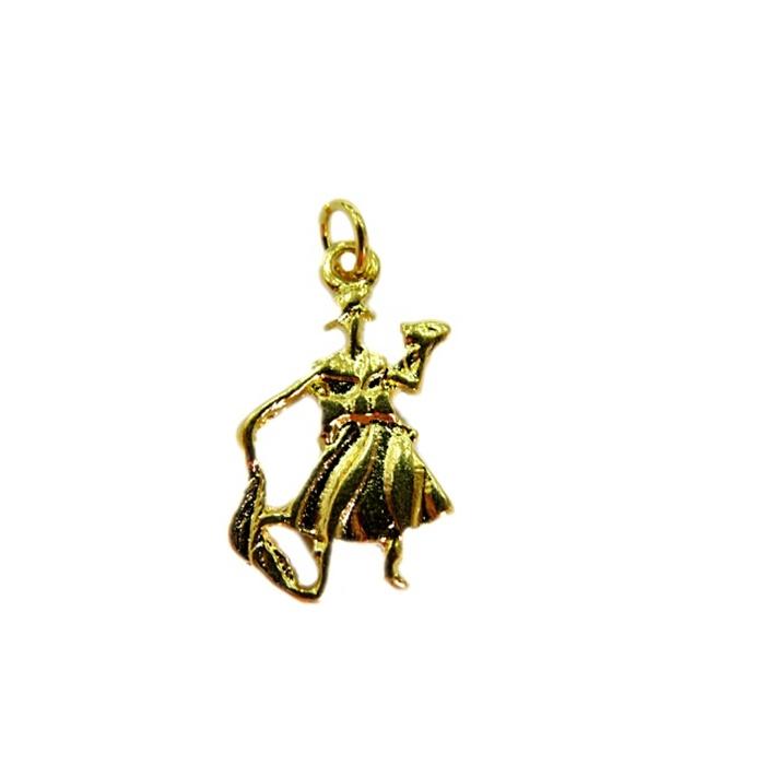Pingente Oxóssi dourado (orixá)- POD004