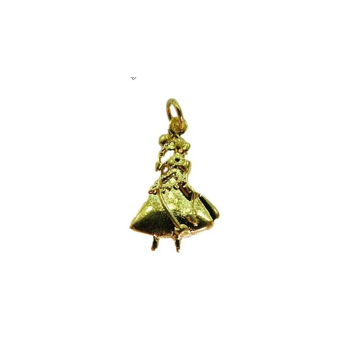 Pingente Oxum dourado (orixá)- POD007