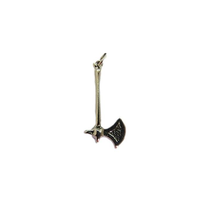 Pingente ferramenta machadinho orixá níquel 1- PFN001