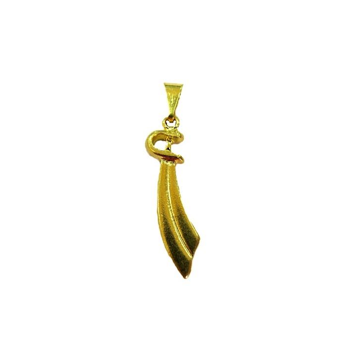 Pingente ferramenta espada orixá dourada- PFD002