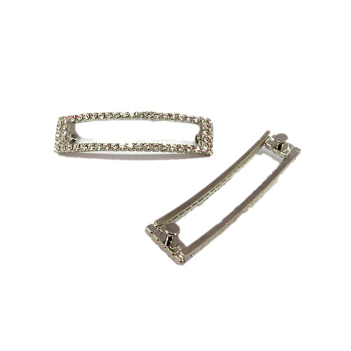 Piercing Retângulo vazado níquel (Par)- PIN026