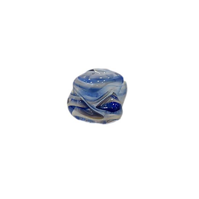 Meteoro de murano P azulão\ branco irisado (10 unidades) - MU322