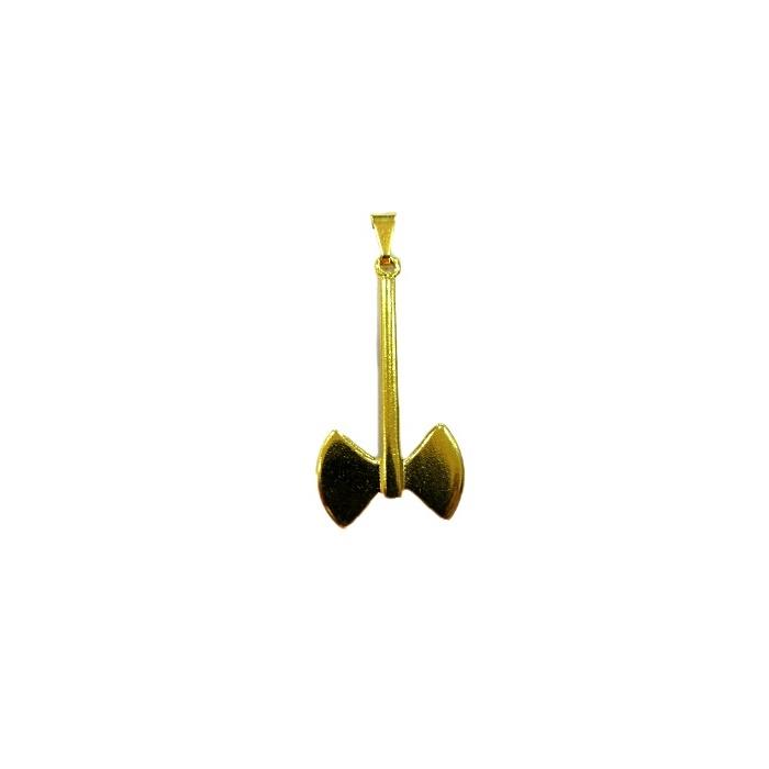 Pingente ferramenta machado orixá dourado- PFD009