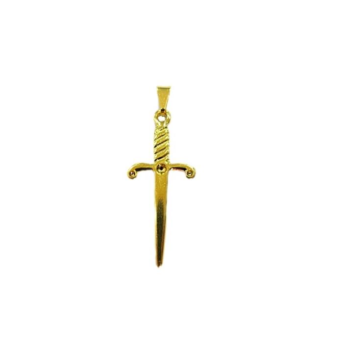 Pingente ferramenta adaga orixá dourado- PFD010