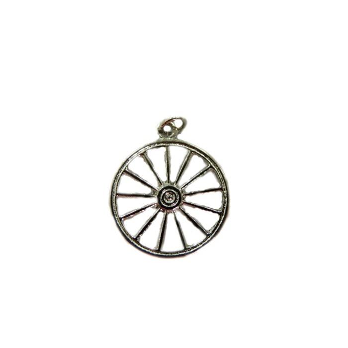 Pingente ferramenta roda orixá níquel- PFN011