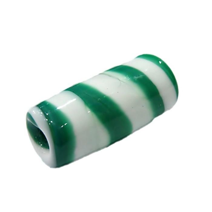 Firma de murano branco\ verde- FM010