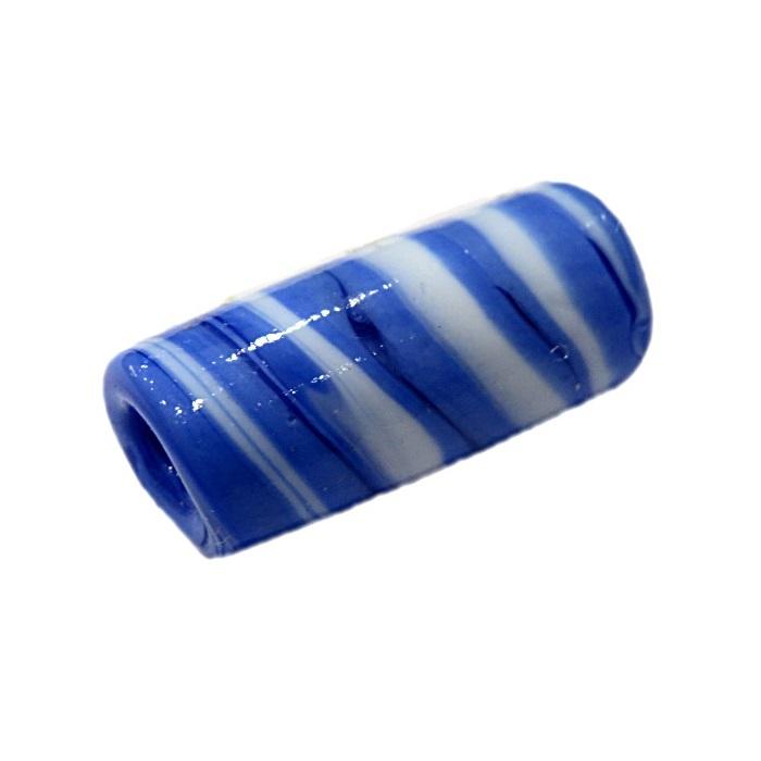 Firma de murano azul royal\ branco- FM029