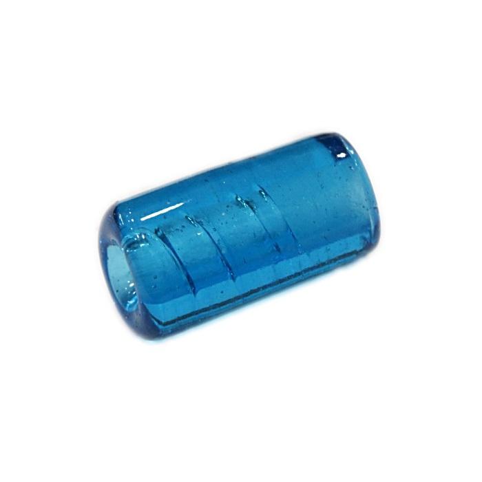 Firma de murano azul turquesa transparente- FM035