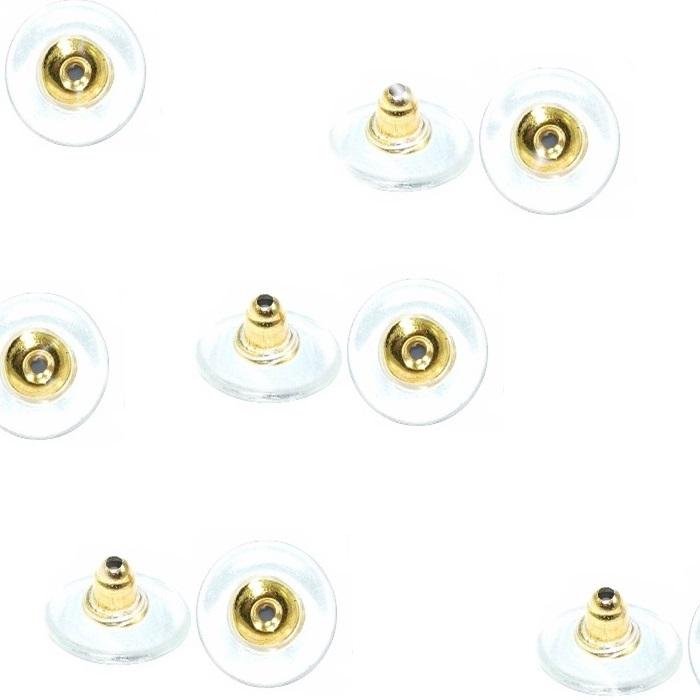 Tarracha Sutia de Orelha dourado latão (20 pares)- TSD001