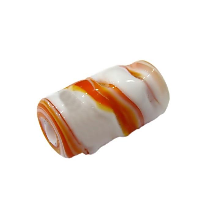 firma de murano mola branco\ laranja- FM055
