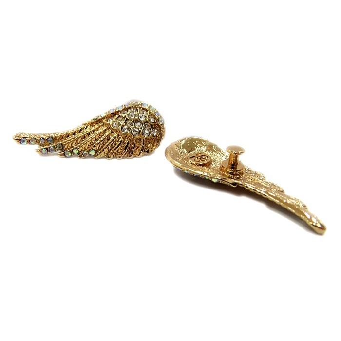 Piercing Asa II dourada (Par)- PID001