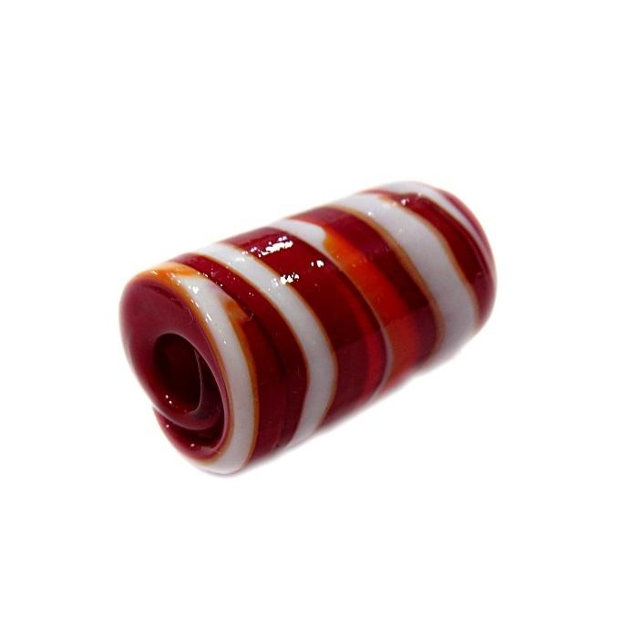 Firma de murano GG vermelho\ branco- FM128