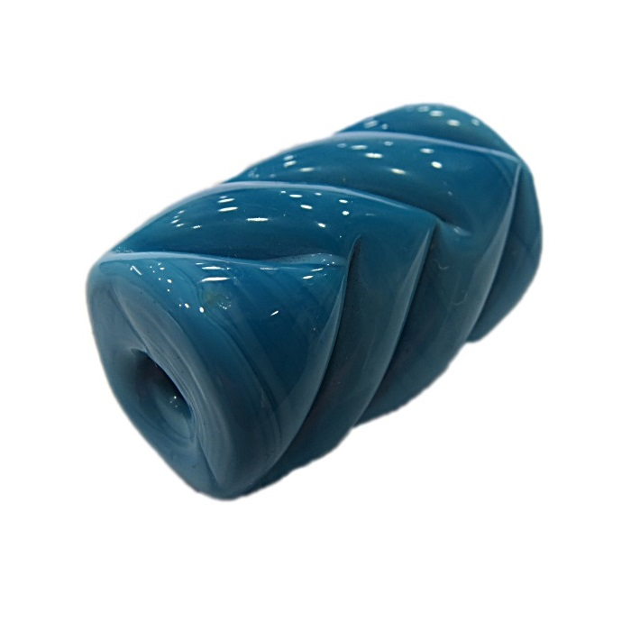 Firma de murano mola GG azul turquesa leitoso- FM150