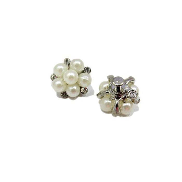 Piercing Flor de pérola níquel (Par)- PIN033